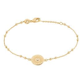 Bracelet Artea Plaque Or Jaune Oxyde De Zirconium - Bracelets fantaisie Femme | Histoire d'Or