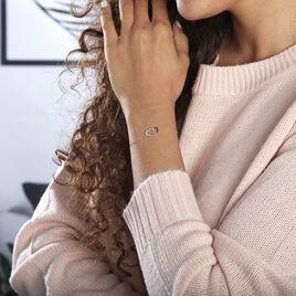 Bracelet Silana Or Blanc Diamant - Bracelets Coeur Femme   Histoire d'Or