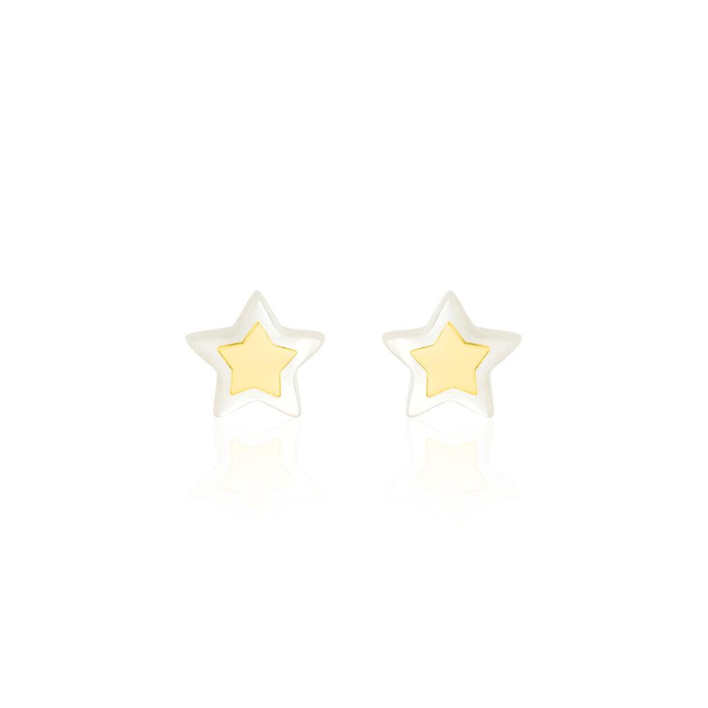 Boucles D'oreilles Puces Cleomelia Etoile Or Jaune - Boucles d'Oreilles Etoile Enfant | Histoire d'Or