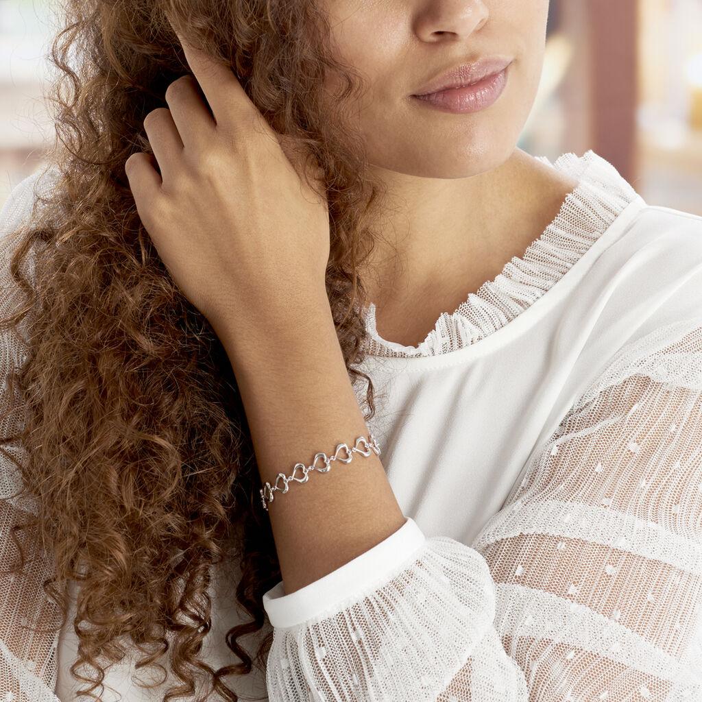 Bracelet Cleofee Argent Blanc - Bracelets Coeur Femme | Histoire d'Or