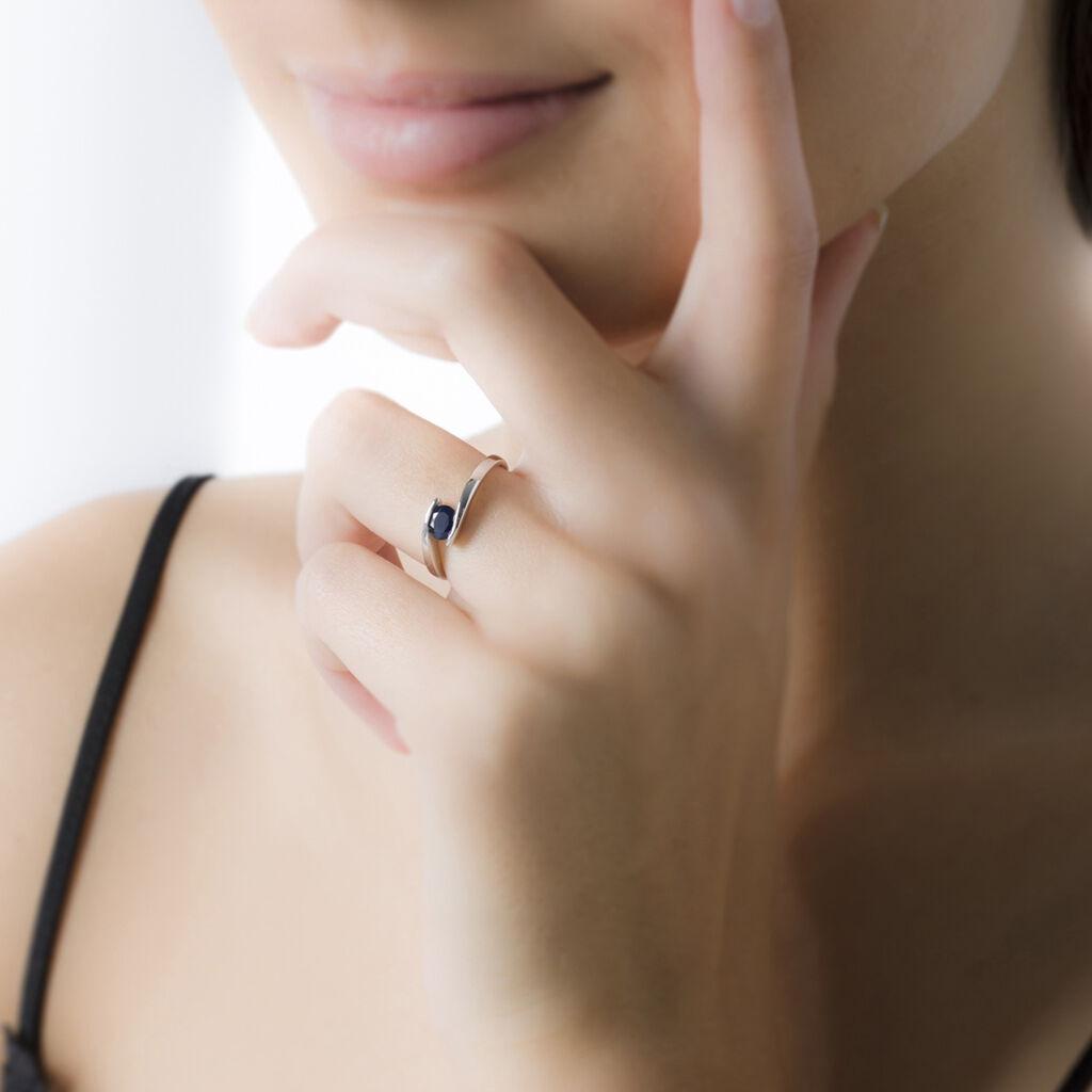 Bague Or Blanc Camilia Quartz Fume - Bagues avec pierre Femme | Histoire d'Or