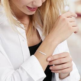 Bracelet Lerzan Argent Blanc Oxyde De Zirconium - Bracelets fantaisie Femme   Histoire d'Or