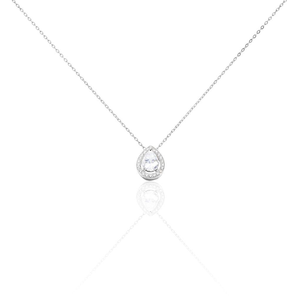 Collier Pilar Argent Blanc Oxyde De Zirconium - Colliers fantaisie Femme | Histoire d'Or