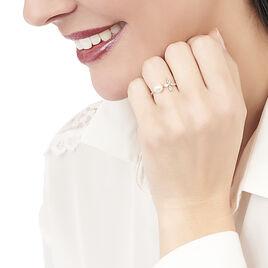 Bague Norah Or Jaune Perle De Culture Et Oxyde De Zirconium - Bagues avec pierre Femme | Histoire d'Or