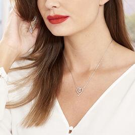 Collier Aria Argent Blanc Oxyde De Zirconium - Colliers Coeur Femme | Histoire d'Or