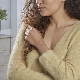 Bracelet Vickie Argent Blanc Oxyde De Zirconium - Bracelets fantaisie Femme   Histoire d'Or