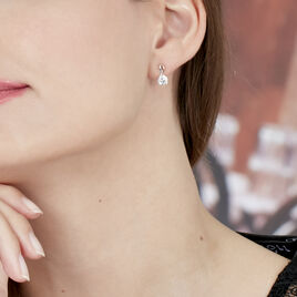 Boucles D'oreilles Beatriz Or Blicolore - Boucles d'oreilles pendantes Femme   Histoire d'Or