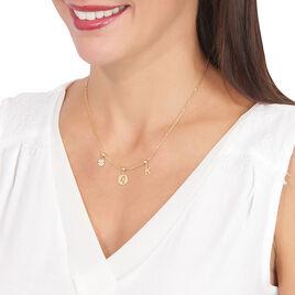Charm Or Jaune Trefle Pave Oxydes - Pendentifs Trèfle Femme | Histoire d'Or