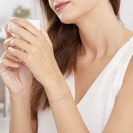 Bracelet Rosita Argent Rose - Bracelets fantaisie Femme | Histoire d'Or