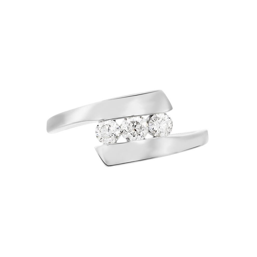 Bague Trilogie Or Blanc Diamant - Bagues avec pierre Femme | Histoire d'Or