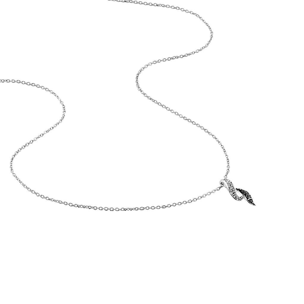 Collier Sylvie Argent Blanc Oxyde De Zirconium - Colliers fantaisie Femme   Histoire d'Or