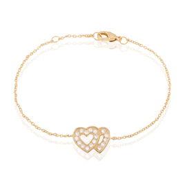 Bracelet Calliste Plaque Or Jaune Oxyde De Zirconium - Bracelets Coeur Femme | Histoire d'Or