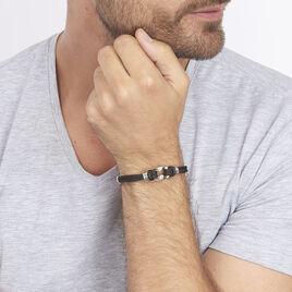 Bracelet Orancie Acier Blanc - Bracelets cordon Homme | Histoire d'Or
