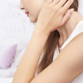 Bracelet Collie Argent Blanc Oxyde De Zirconium - Bracelets fantaisie Femme | Histoire d'Or