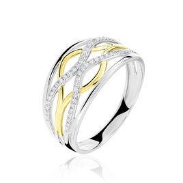 Bague Nathalie Or Bicolore Diamant - Bagues avec pierre Femme | Histoire d'Or