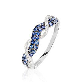 Bague Dimitria Or Blanc Saphir Et Diamant - Bagues avec pierre Femme | Histoire d'Or
