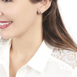 Boucles D'oreilles Puces Liana Or Blanc Diamant - Clous d'oreilles Femme   Histoire d'Or