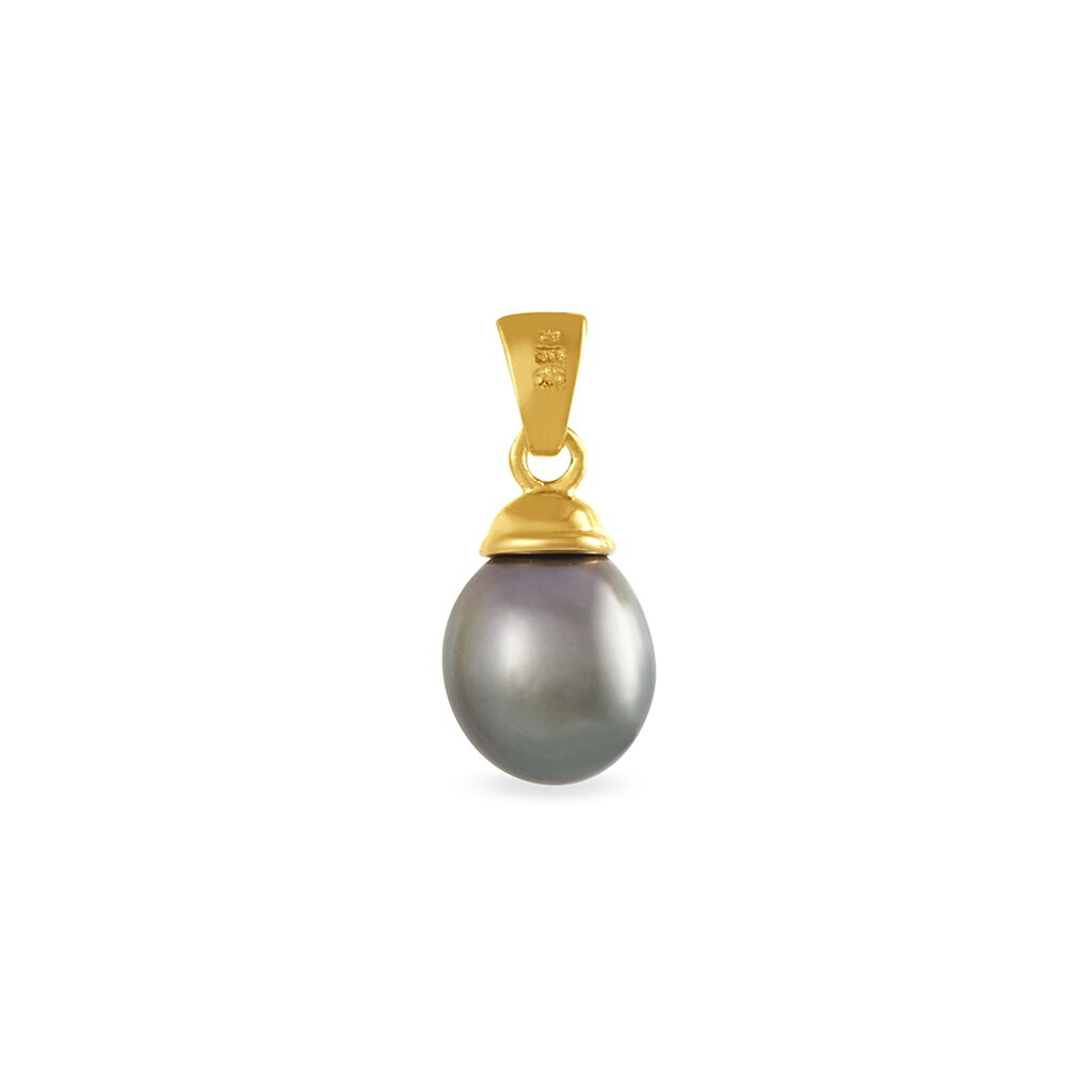 Pendentif Noellie Or Jaune Perle De Culture De Tahiti Et Diamant - Pendentifs Femme | Histoire d'Or