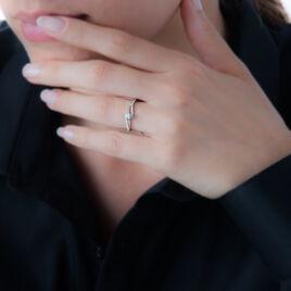 Bague Antigone Or Blanc Diamant - Bagues avec pierre Femme | Histoire d'Or