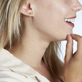 Boucles D'oreilles Puces Ferrera Or Jaune - Boucles d'Oreilles Infini Femme | Histoire d'Or
