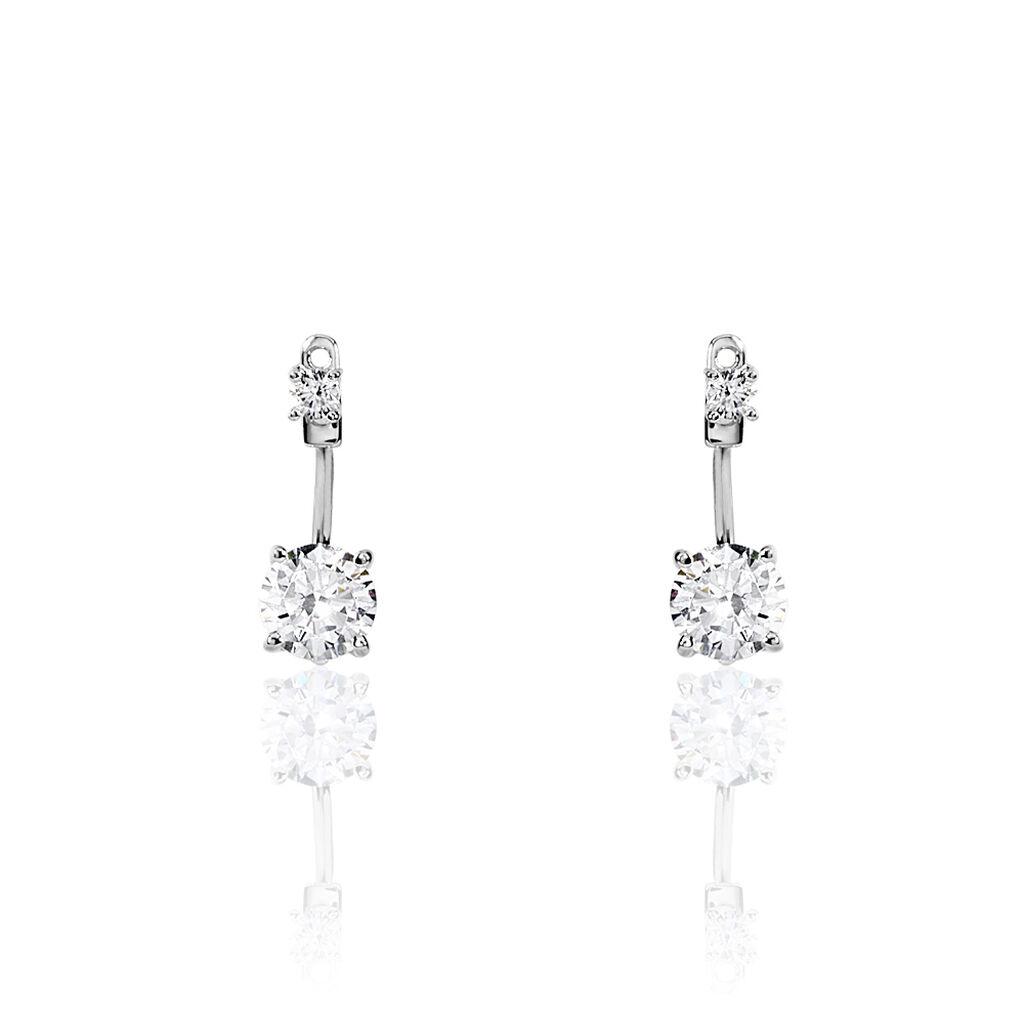Bijoux D'oreilles Eoline Argent Blanc Oxyde De Zirconium - Boucles d'oreilles fantaisie Femme | Histoire d'Or