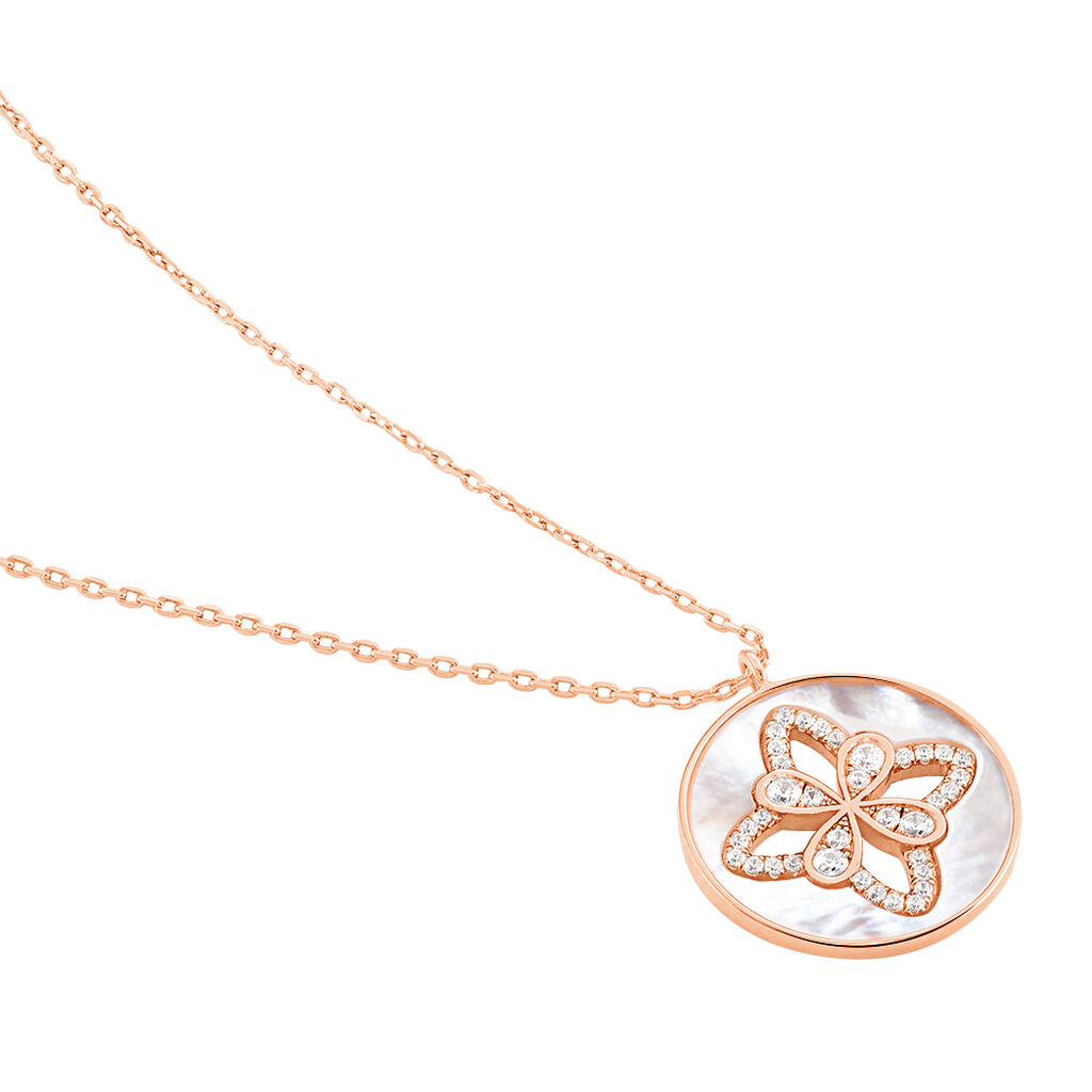 Collier Alexine Argent Rose Oxyde De Zirconium - Colliers Etoile Femme | Histoire d'Or