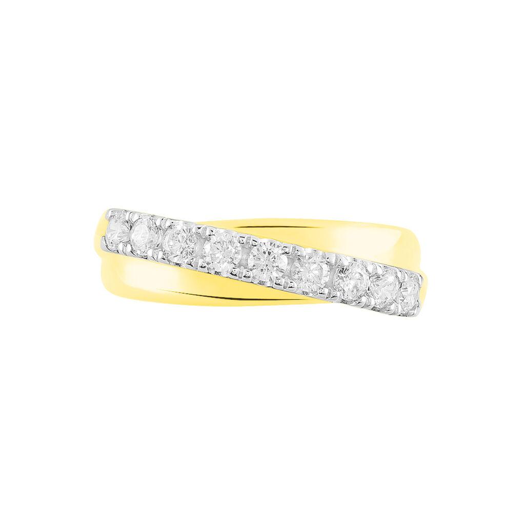 Bague Agostina Or Jaune Oxyde De Zirconium - Bagues avec pierre Femme | Histoire d'Or