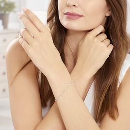 Bracelet Coliane Argent Blanc Oxyde De Zirconium - Bracelets Coeur Femme | Histoire d'Or
