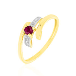 Bague Evka Or Jaune Rubis - Bagues solitaires Femme | Histoire d'Or