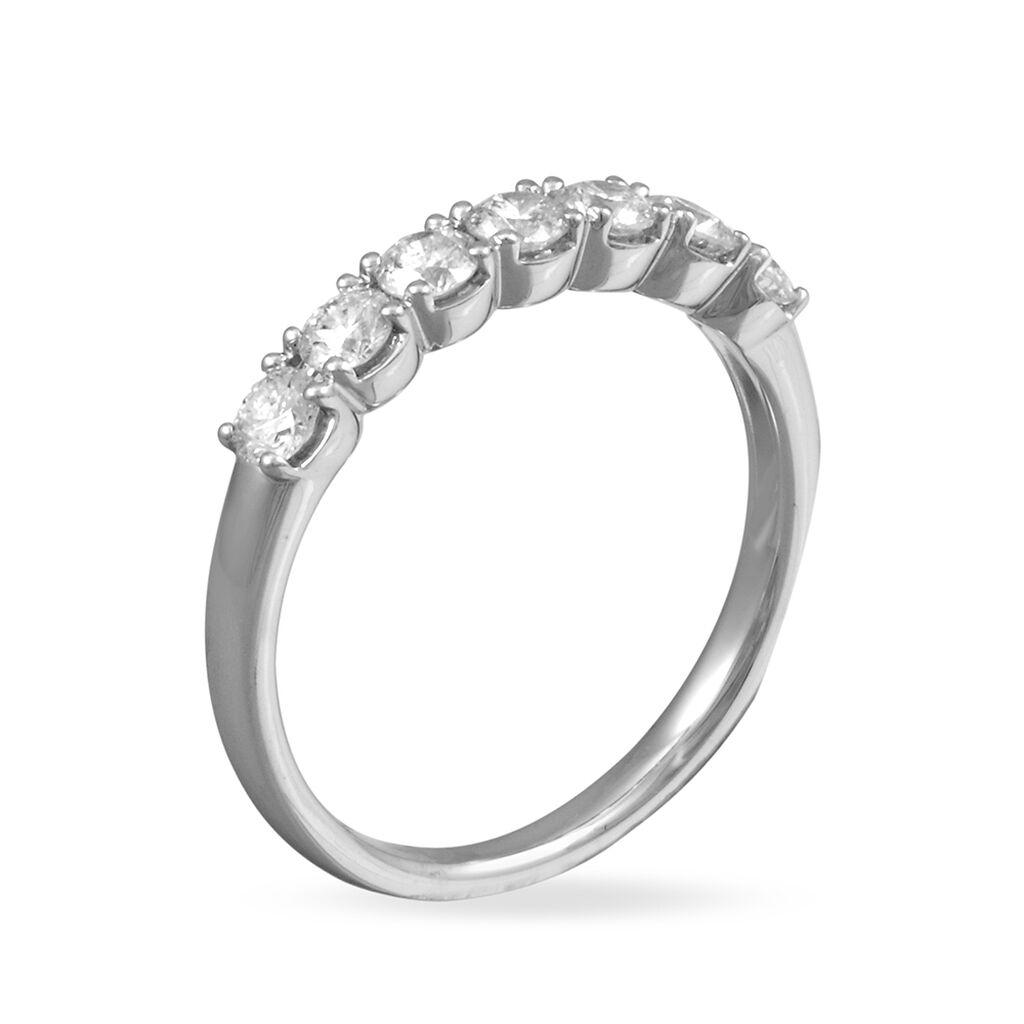 Alliance Eloise Platine Blanc Diamant - Alliances Femme | Histoire d'Or