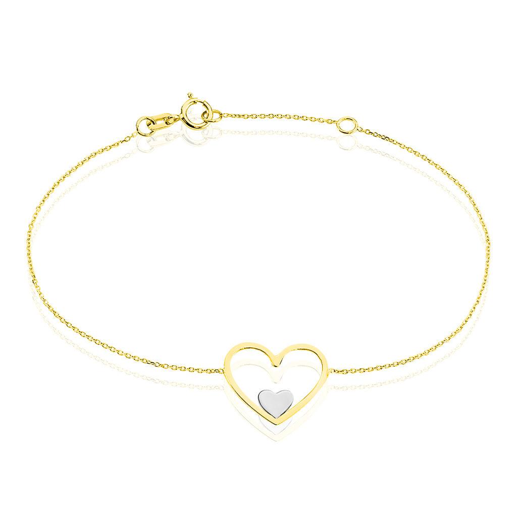 Bracelet Erna Or Bicolore - Bracelets Coeur Femme | Histoire d'Or