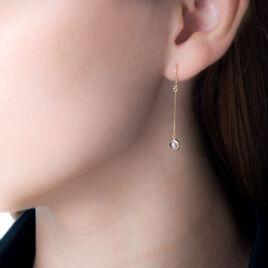 Boucles D'oreilles Pendantes Or Jaune Quartz - Boucles d'oreilles pendantes Femme | Histoire d'Or