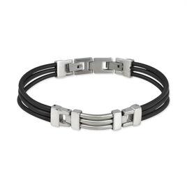 Bracelet Road Acier Blanc - Bracelets cordon Homme | Histoire d'Or