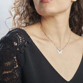 Collier Argent Rhodié Lauree - Colliers Papillon Femme | Histoire d'Or
