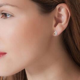 Boucles D'oreilles Puces Boucle D'or Or Jaune Oxyde De Zirconium - Clous d'oreilles Femme | Histoire d'Or