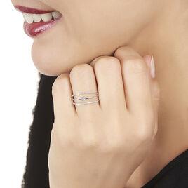 Bague Leni Or Blanc Diamant - Bagues avec pierre Femme | Histoire d'Or