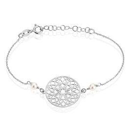 Bracelet Leanah Argent Blanc Perle De Culture - Bracelets fantaisie Femme | Histoire d'Or