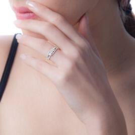 Bague Comete Or Blanc Oxyde De Zirconium - Bagues avec pierre Femme | Histoire d'Or