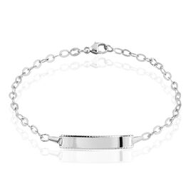 Bracelet Identité Gaspardine Maille Forçat Or Blanc - Bracelets Communion Enfant | Histoire d'Or