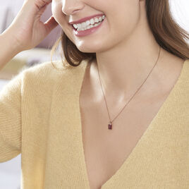 Collier Petronelle Or Rose Rhodolite Et Oxyde De Zirconium - Bijoux Femme | Histoire d'Or
