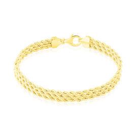 Bracelet Jerry Maille Corde 3 Rangs Or Jaune - Bracelets chaîne Femme | Histoire d'Or
