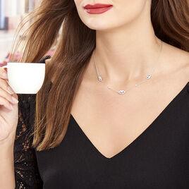 Collier Symbolique Argent Blanc Oxyde De Zirconium - Colliers fantaisie Femme   Histoire d'Or