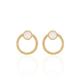 Bijoux D'oreilles Plaque Or Linna Puces Pierres De Lune - Ear cuffs Femme | Histoire d'Or