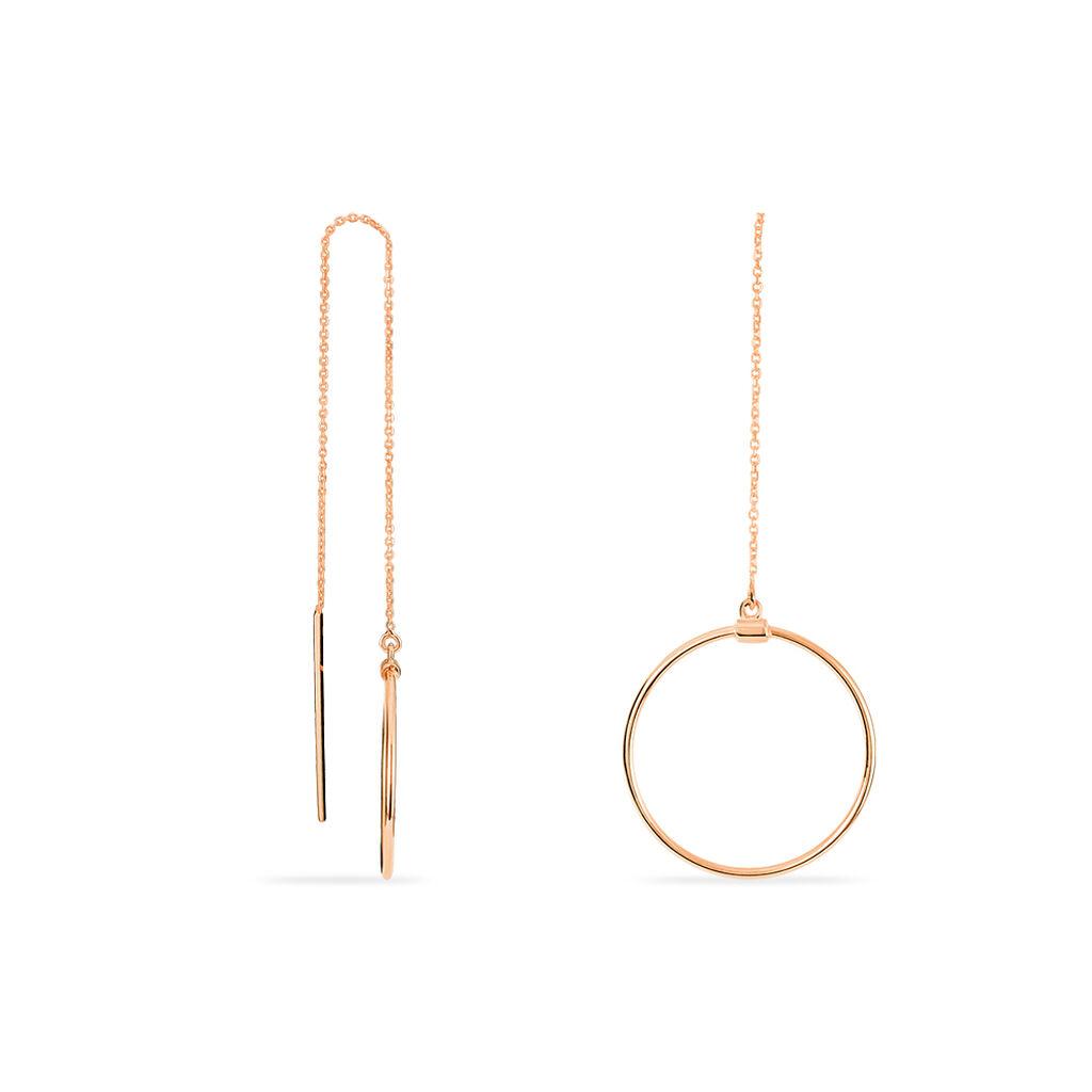 Boucles D'oreilles Pendantes Pink Or Rose - Boucles d'oreilles pendantes Femme   Histoire d'Or
