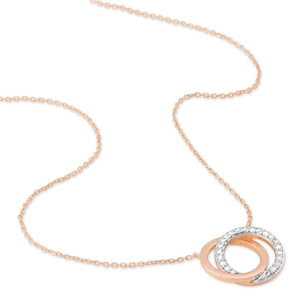 Collier Absolu Or Bicolore Diamant - Bijoux Femme | Histoire d'Or