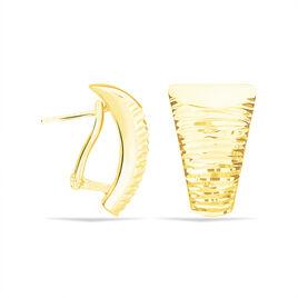 Créoles Zoelia Rondes Plaque Or Jaune Perle D'imitation - Boucles d'oreilles créoles Femme | Histoire d'Or