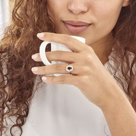 Bague Insaf Plaque Or Jaune Oxyde De Zirconium - Bagues solitaires Femme | Histoire d'Or