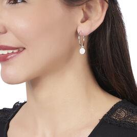 Créoles Slorane Rondes Argent Blanc Oxyde De Zirconium - Boucles d'oreilles créoles Femme   Histoire d'Or