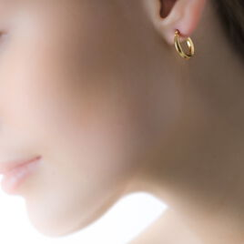 Créoles Ilana Lisses Fil Triangle Or Jaune - Boucles d'oreilles créoles Femme | Histoire d'Or