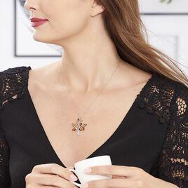 Collier Chahida Argent Blanc Ambre - Bijoux Femme | Histoire d'Or